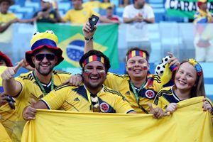 Tifosi della Nazionale colombiana (Ansa).