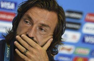 Andrea Pirlo. per lui anche le lacrime dell'addio alla Nazionale.