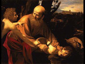 Caravaggio, Sacrificio di Isacco, Galleria degli Uffizi, Firenze