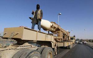 Un reparto dello Stato islamico della Siria e del Levante dotato di missili a lunga gittata.(Isil). Foto Reuters.