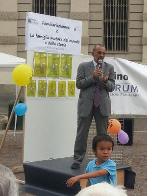 Francesco Belletti durante il suo intervento a Torino.