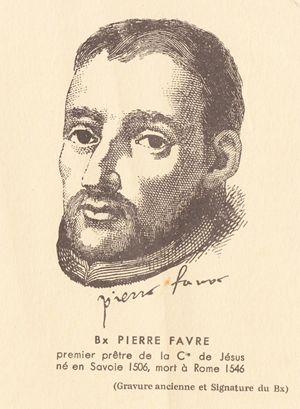 san Pietro Favre ritratto in una litografia d'epoca