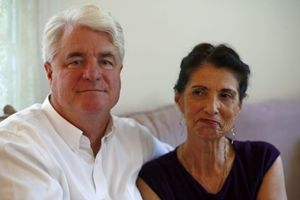 John e Diane Foley, genitori di James.