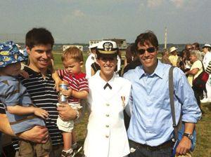 James col fratello Michael e i suoi due figli.