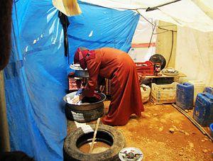Profughi siriani in Libano, assistiti da Gvc (un'altra delle Ong italiane che fanno parte di AGIRE).