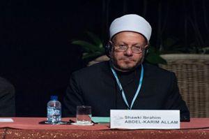 Il gran Muftì d'Egitto, Shawki Ibrahim Abdel Karim Allam. Foto gentilmente concessa dalla Comunità di Sant'Egidio.