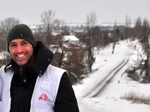Andrea Ciocca, capo progetto italiano a Donetsk, in Ucraina, per Medici Senza Frontiere.
