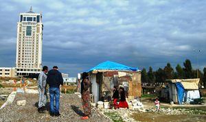 Erbil: il campo dei profughi yazidi prima della nevicata (foto T. Dutto).