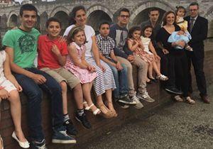 La famiglia Paloni al completo, in Olanda.