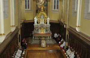 Papa Benedetto XVI celebra i Vespri alla Certosa di Serra San Bruno
