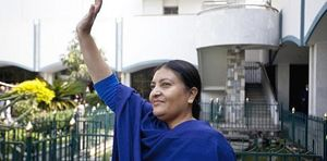 La neoeletta Presidente della Repubblica Bidhya Bhandari.