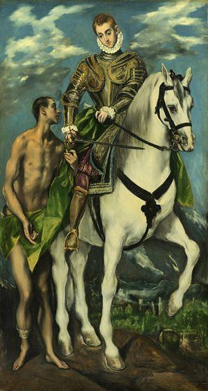 El Greco, San Martino e il mendicante