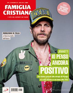 Jovanotti sulla copertina del n. 48 di Famiglia Cristiana, in edicola e in parrocchia dal 26 novembre 2015.