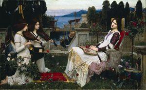 """""""Santa Cecilia"""" (1895) di John William Waterhouse"""