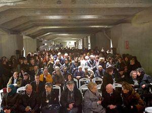 L'incontro di quest'anno presso il Memoriale della Shoah, alla Stazione centrale.
