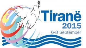 Il logo dell'evento che si svolgerà a Tirana.