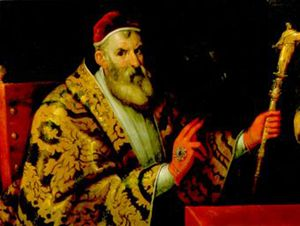 Papa Sisto V, primo organizzatore della curia nel 1588.