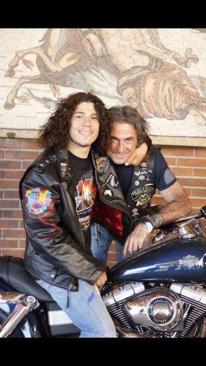 Andrea Antonello con il papà Franco
