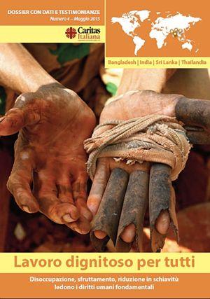 La copertina del dossier Caritas (scaricabile dal sito www.caritasitaliana.it).
