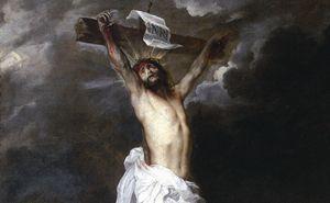 Crocifissione, Dipinto di Antoon van Dyck (1599-1641). Genova, Galleria di Palazzo Reale.