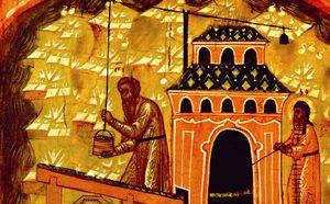 Produzione di sale, dipinto del XVII secolo. Museo del monastero Kirillo-Belozersky.