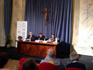 Da sinistra: Andrea Riccardi, Armand Puig i Tàrrech, Giacomo Perego (foto R. Gobbo).