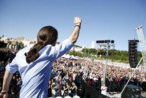 Paglo Iglesias Turrion, leader di Podemos.