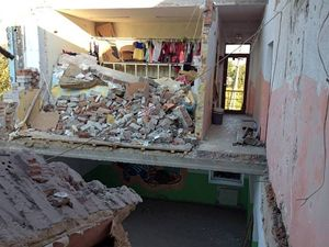 Distruzioni a Sloviansk.