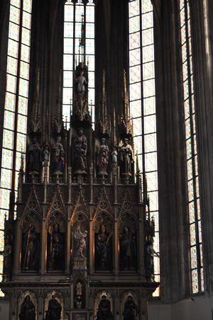 L'interno della cattedrale di San Barlomeo a Pilsen (foto: Di Diodato).