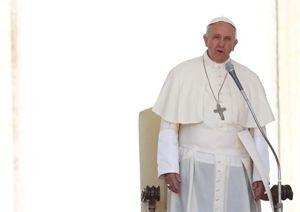 Papa Francesco durante l'udienza (Reuters).