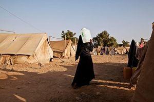 Il campo sfollati di Kamer, nel Nord dello Yemen, dove opera Msf. Dall'inizio dei combattimenti sono arrivati oltre 10 mila profughi.