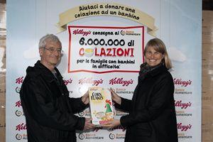 Kati Kaskeala e Andrea Giussani, Presidente della Fondazione Banco Alimentare