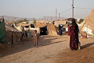 Uno dei tanti campi profughi sorti dall'inizio della guerra.