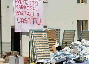 Scritte di protesta a Quinto di Treviso.