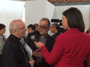 Monsignor Nunzio Galantino, Segretario generale della Cei, al Meeting di Rimini. Foto Fulvio Scaglione.