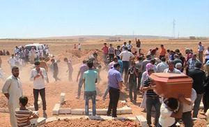 I funerali della moglie e dei due figli di Abdullah Kurdi, a Kobane.