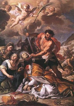Martirio di San Gennaro, Girolamo Pesce, 1727