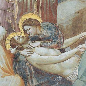 Giotto, Compianto sul Cristo morto, particolare