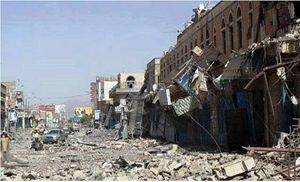 Gli ffetti dei bombardamenti a Taiz, in Yemen.