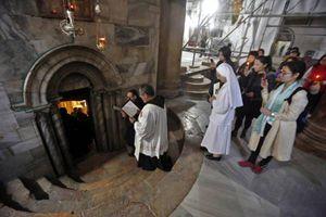 Il santuario della Natività a Betlemme, in Terra Santa. Foto Ansa.