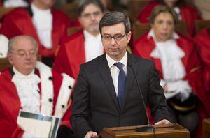 Il ministro di Grazia e Giustizia Andrea Orlando all'apertura dell'anno giudiziario. Foto Ansa