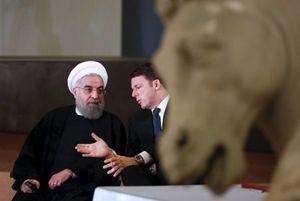 Il presidente iraniano Rouhani con il premier Renzi (Reuters).