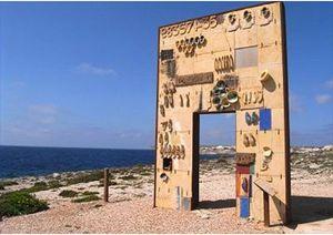 La Porta d'Europa sull'isola di Lampedusa