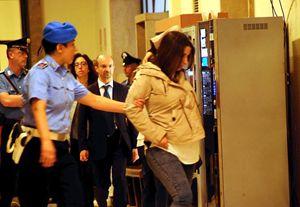 Martina Levato in tribunale durante la gravidanza