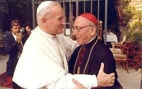 Il cardinale Agostino Casaroli con Giovanni Paolo II