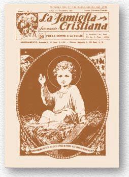 """La copertina del primo numero di """"Famiglia Cristiana"""""""