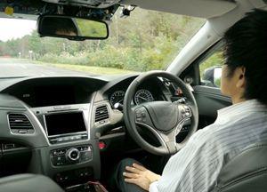 Uno dei test di guida autonoma della tedesca Bosch sulle strade giapponesi, dove la circolazione è a sinistra, come in Inghilterra.