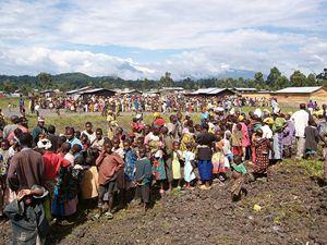 Profughi a Goma, in Repubblica democratica del Congo.
