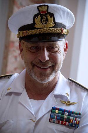 L'ammiraglio Giuseppe De Giorgi, Capo di Stato maggiore della Marina. Foto Ansa.