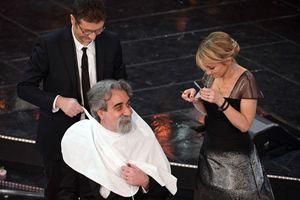 Sanremo 2013, il maestro Vessicchio con Fabio Fazio e Luciana Littizzetto